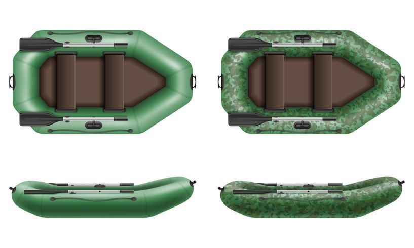 canot pneumatique pour illustration vectorielle pêche et tourisme vecteur