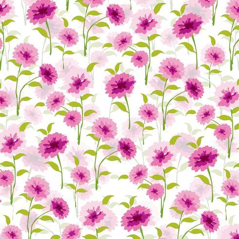 motif de fond féminin vecteur floral rose