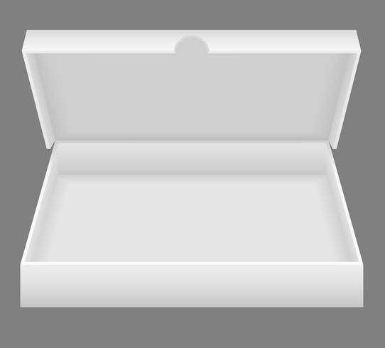 illustration vectorielle de boîte d'emballage ouverte blanche vecteur