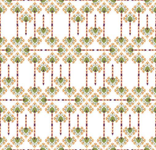 Texture transparente florale abstraite. Motif de fleur oriental élégant vecteur