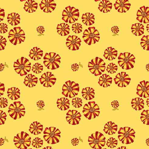 Modèle sans couture floral abstrait. Fond de fleurs d'été. vecteur