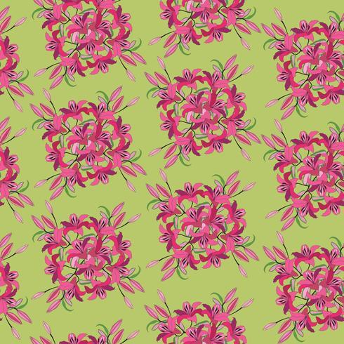 Modèle sans couture floral abstrait. Fond ornemental de fleurs. vecteur