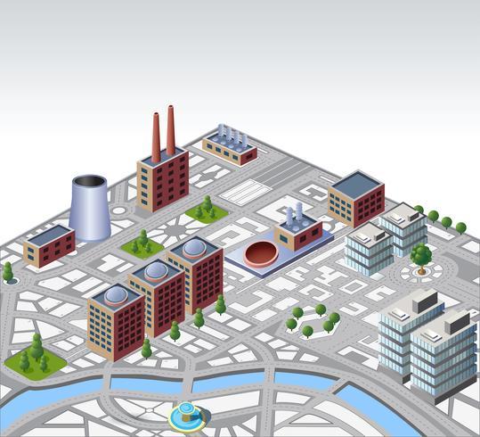 bâtiments urbains et industriels vecteur