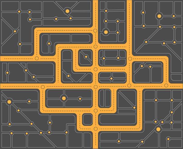 Plan des rues vecteur