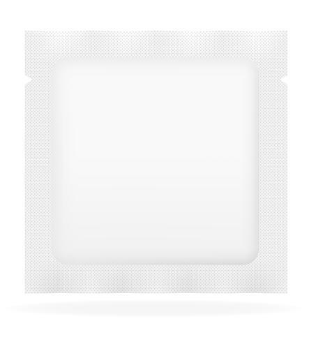 illustration vectorielle de sac scellé blanc d'emballage vecteur