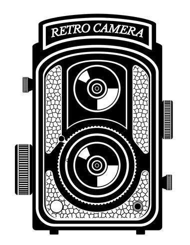 appareil photo photo vieux rétro illustration vintage vector illustration