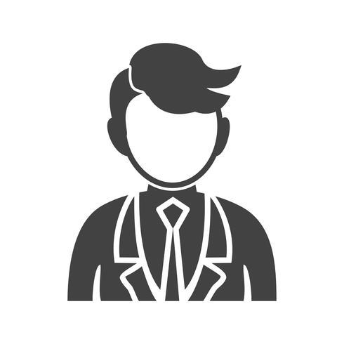 Homme d'affaires Glyph Black Icon vecteur