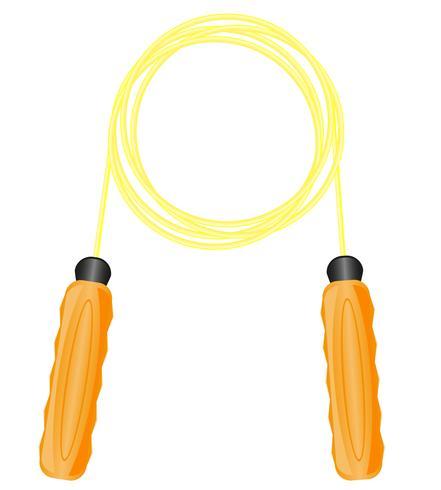 corde à sauter pour illustration vectorielle de remise en forme vecteur