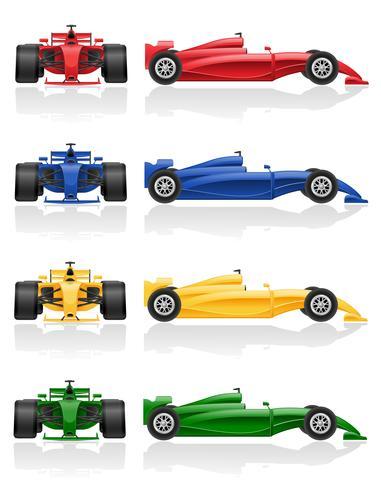 définir les icônes de couleurs illustration vectorielle de voiture de course EPS 10 vecteur