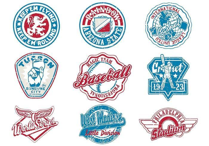 Pack de logo vectoriel sportif grungy