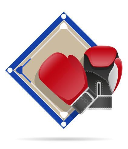 illustration vectorielle de boxe ring vecteur