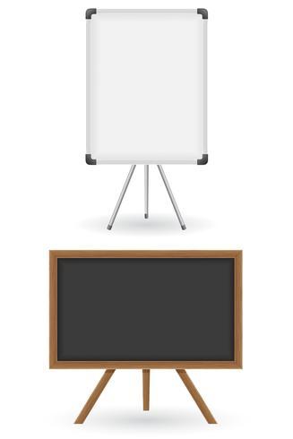 illustration vectorielle de commission scolaire en bois et en plastique vecteur