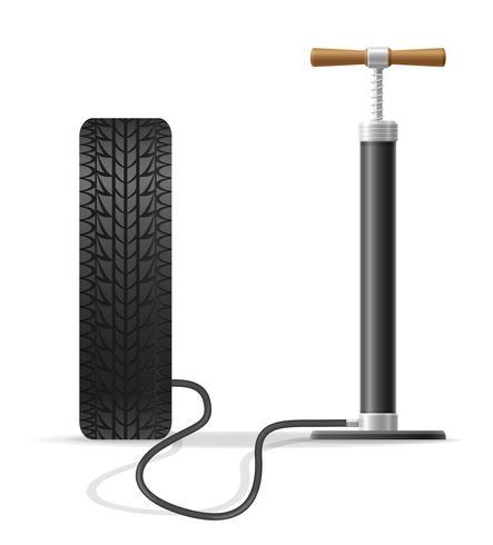 illustration de vecteur stock voiture main pompe à air