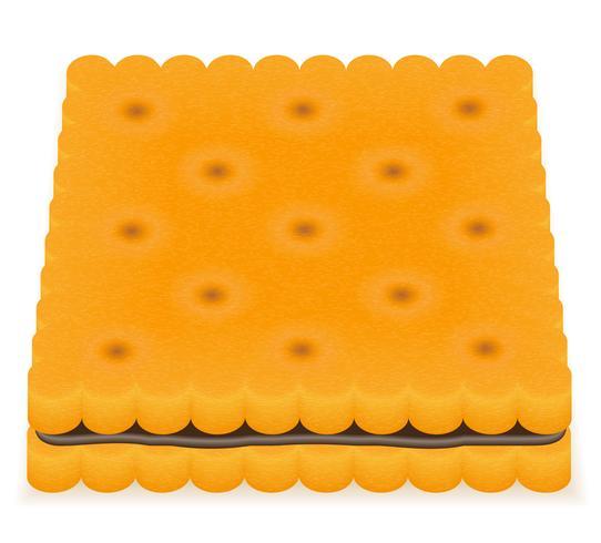 illustration vectorielle biscuit biscuit biscuit vecteur