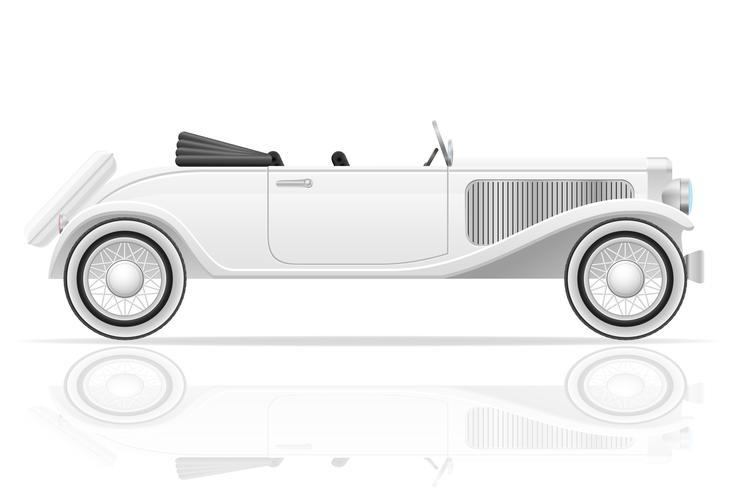 ancienne illustration vectorielle de voiture rétro vecteur