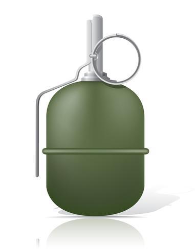 illustration vectorielle de grenade à main vecteur