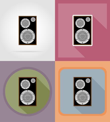 icônes plat loundspeaker acoustique vector illustration