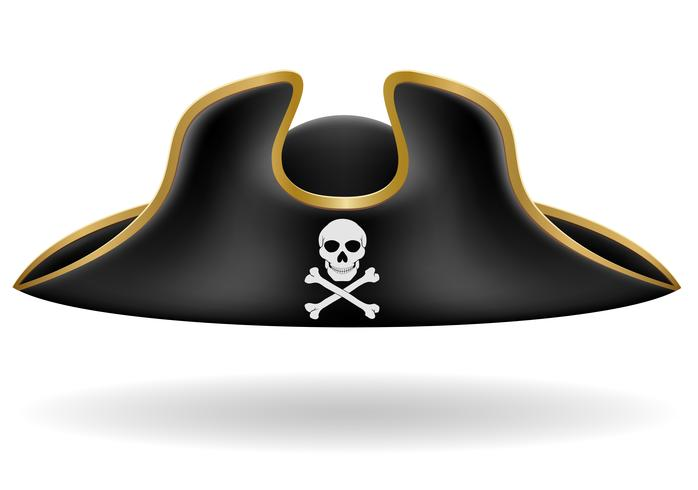 illustration vectorielle de pirate chapeau tricorne vecteur