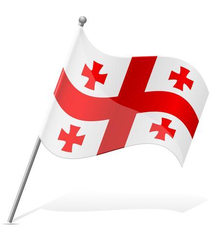 drapeau de la Géorgie illustration vectorielle vecteur