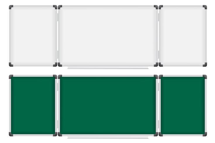 Commission scolaire en plastique pour l'écriture d'illustration vectorielle marqueur et craie vecteur