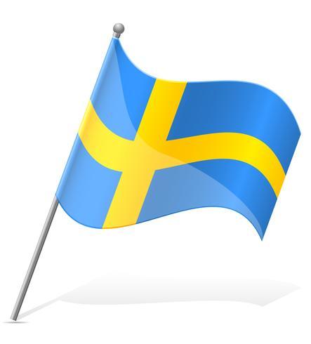 drapeau de l'illustration vectorielle Suède vecteur