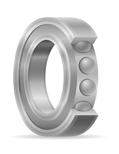 illustration vectorielle de roulement à billes en métal vecteur