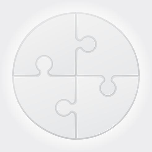 illustration vectorielle puzzle rond vecteur