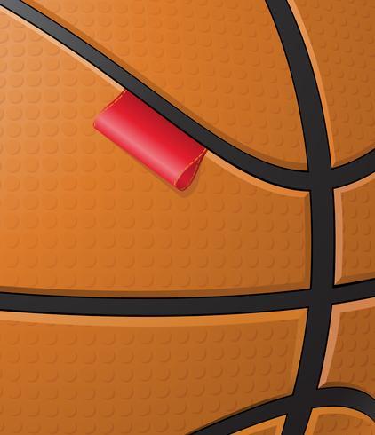 fond de basket avec étiquette vecteur