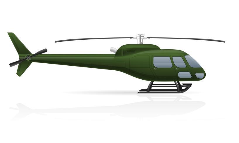 illustration vectorielle de passager civil hélicoptère vecteur