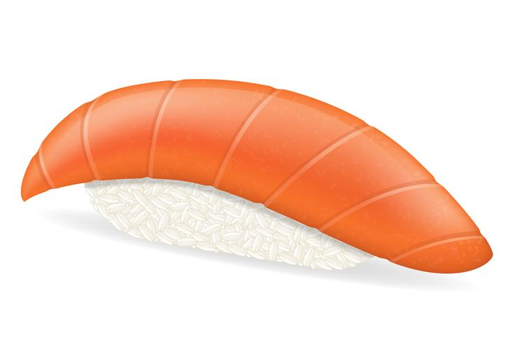 sushi avec illustration vectorielle saumon vecteur