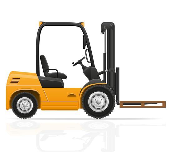 illustration vectorielle de chariot élévateur vecteur