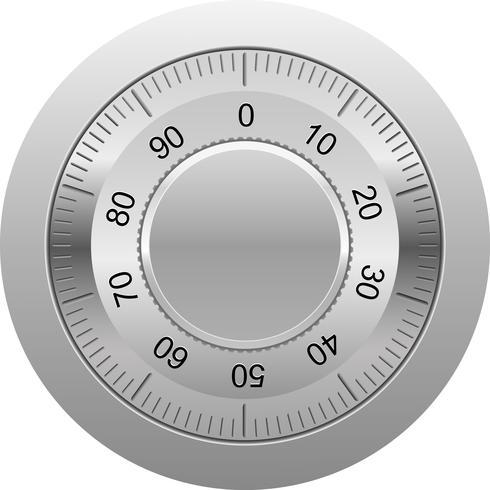 illustration vectorielle de serrure à combinaison vecteur
