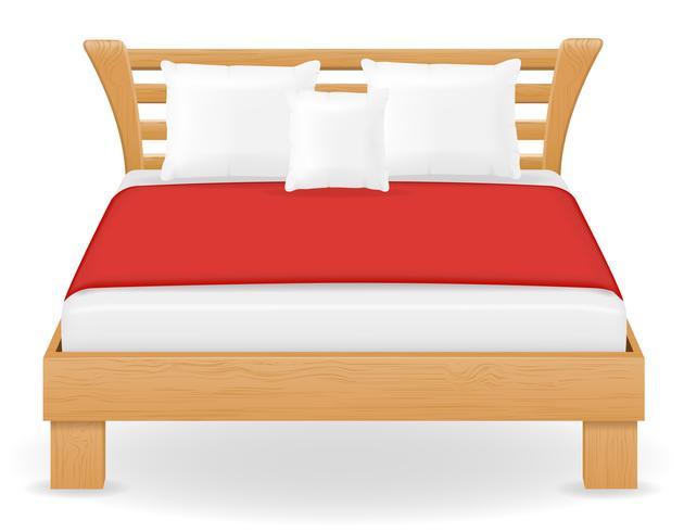 illustration vectorielle de lit double meubles vecteur