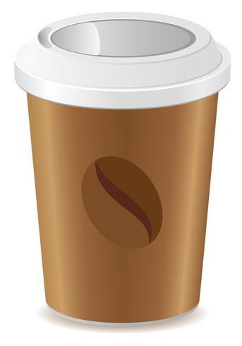 tasse de papier avec illustration vectorielle café vecteur