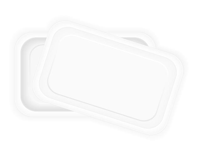 emballage en plastique blanc pour illustration vectorielle de nourriture vecteur