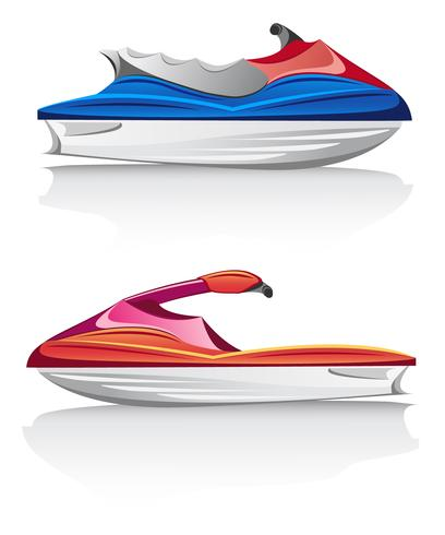 jet ski de vitesse aquabike vecteur