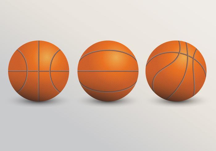 Illustration réaliste de basket-ball vecteur