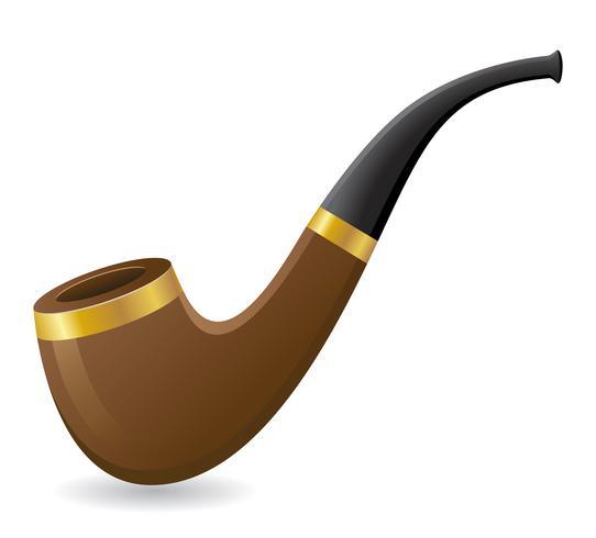 illustration vectorielle de tabac pipe vecteur