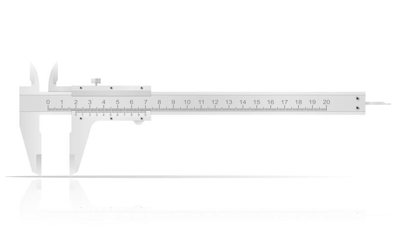 Pied à coulisse en métal pour des mesures précises vector illustration