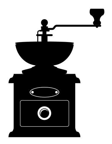moulin à café vieux rétro icône vintage stock illustration vecteur