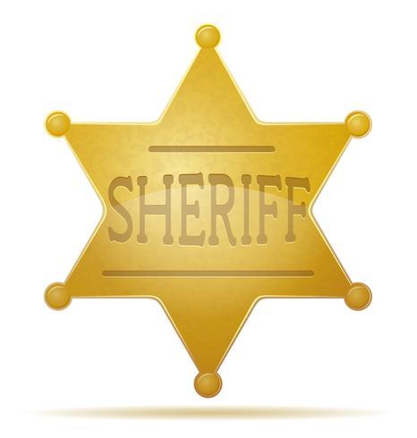 illustration vectorielle star shérif vecteur
