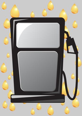 icône de buse de pompe à essence vecteur