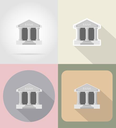 Banque icônes plates vector illustration