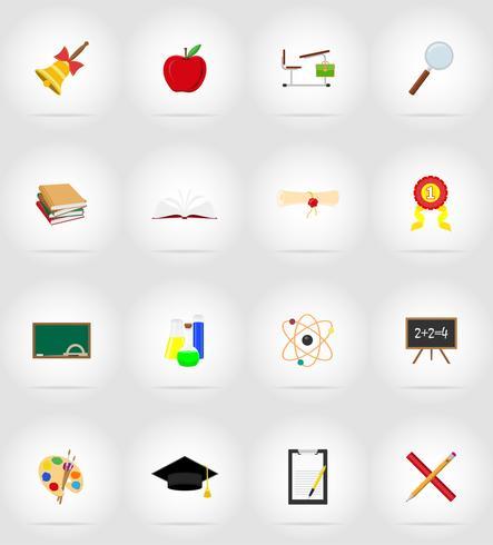 icônes de l'éducation scolaire icônes vectorielles illustration vecteur