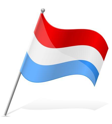 drapeau de l'illustration vectorielle au Luxembourg vecteur