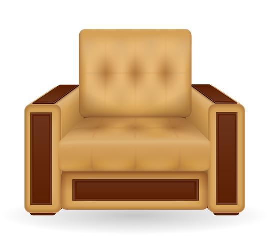illustration vectorielle de fauteuil meubles vecteur