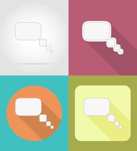 bulles icônes plates illustration vectorielle vecteur