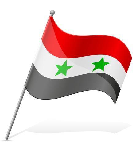 drapeau de la Syrie illustration vectorielle vecteur