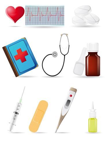 set médical icône vecteur