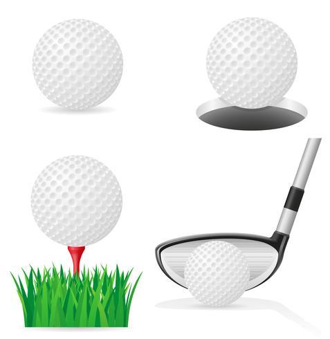 illustration vectorielle de balle de golf vecteur